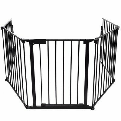 """New Fireplace Fence Baby Safety Pet Gate Dog Barrier Enclose Indoor Home 25""""x30"""""""