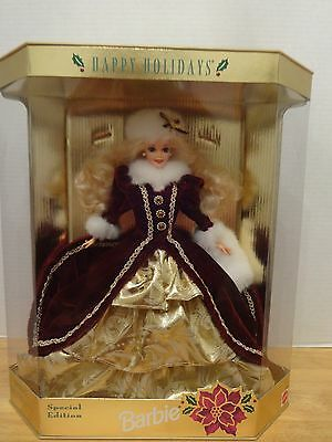 HAPPY HOLIDAYS 1996 Barbie Doll - EXCELLENT!