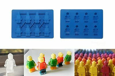 8 - Mini Figure Ice Cube Tray Silicone Mold Cake Jelly Candy Cookie Maker Mould