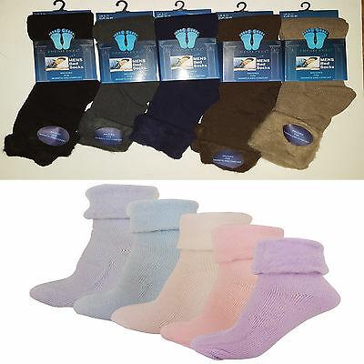 6X Men Ladies Winter Soft Warm Cosy Thermal Brushed Fleece Bed Lounge Socks