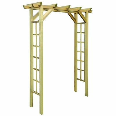 Wooden Garden Rose Arch Archway Door Climbing Plants Patio Seating Area Decor