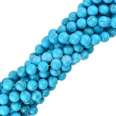 10mm Precious Smooth Turquoise Gemstone Rounds Beads For Jewelry Making DIY