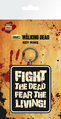 The Walking Dead Fight The Dead Fear The Living Keyring Key Chain Official NEW
