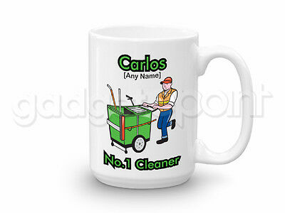 Personalised Gift Janitor Cleaner Large Mug Cup Birthday Christmas Work Present
