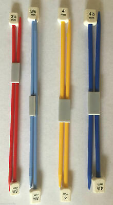 Children's Knitting Needles Knitting Pins Short Needles 18cm x 3.25mm - 4.5mm