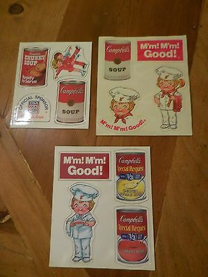 Set of 3 Sheets Vintage Look Campbell Soup Magnets Campbell Kids Collectible NEW