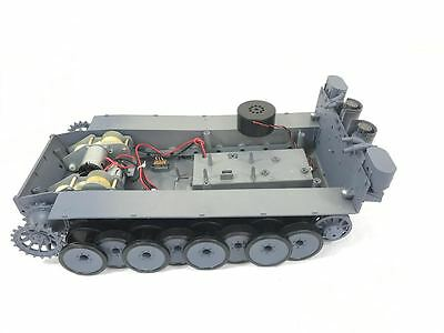 Heng Long German Tiger Bottom Hull  Chassis 1/16  with gearbox speaker UK