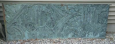 One Of A Kind Solid Bronze Mural Art Architectural Salvage Decor Off Boston Bld