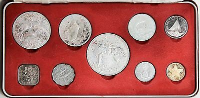 1972 Bahamas Proof Set of 9 Coins in Box, Franklin Mint [2650.218]