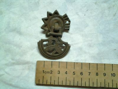 Antique draw handle  cast iron with tin backplate