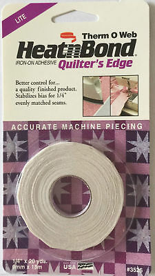 "20 yd x 1/4"" Heat N Bond Iron-On Adhesive Quilting Edge ThermOWeb Quilters Edge"