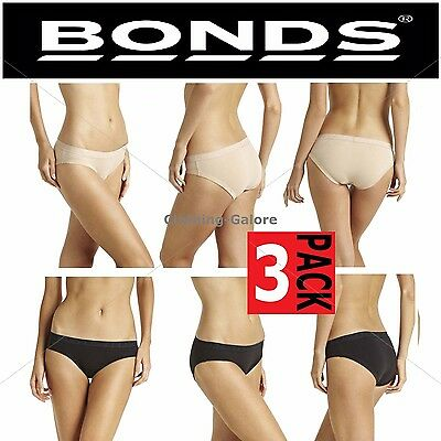 Bonds Womens 3 Pack Pair Underwear Cottontails Panties Brief Undies Briefs Pairs
