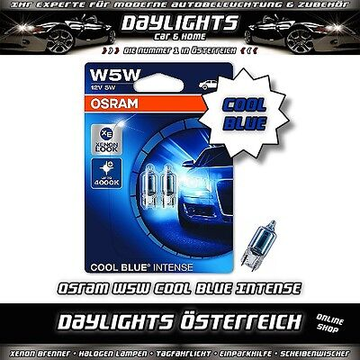 Osram W5W Cool Blue Intense 4000K Halogen Lampen Standlicht Duo Set