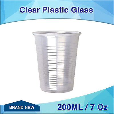 500pc Clear Plastic Cold Drinking Cups 200ML 7 Oz bulk new disposable Glass