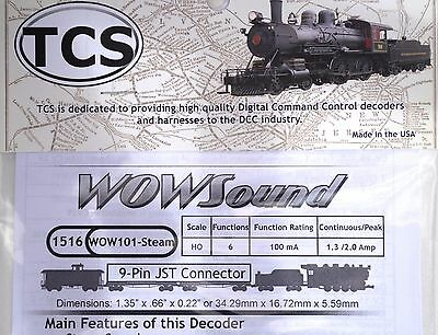 DCC decoder TCS WOW101 Steam Sound Decoder HO Scale