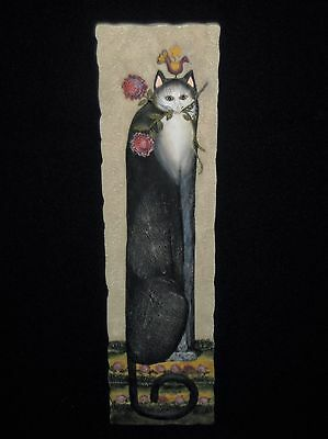 Cat Tails Rose Bud Signed By Eileen Smithson Resin 3D Wall Plaque Decor