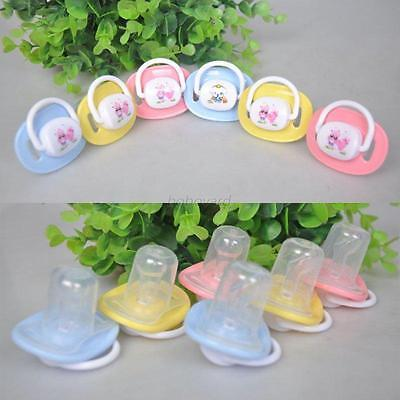 Boy Girl Unisex Baby Soother Nipples Translucent Silicone Baby Dummy Pacifier