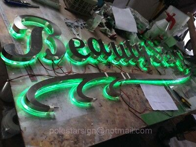 Customized LED Channel Letter Shop Signs Stainless Steel backlit Advertising NEW