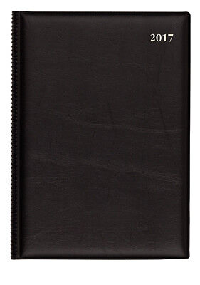 2017 Collins Belmont Desk Diary Diaries A5 Day to Page 187 - Black