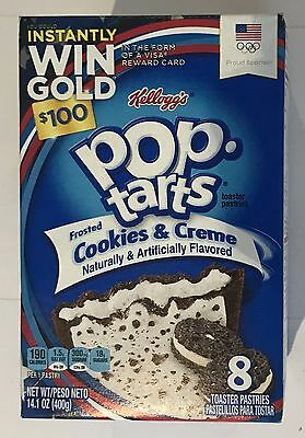 900683 400g BOX OF 8 POP TARTS - FROSTED COOKIES & CREME - TOASTER PASTRIES