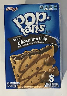 900681 416g BOX OF 8 POP TARTS - FROSTED CHOCOLATE CHIP - TOASTER PASTRIES