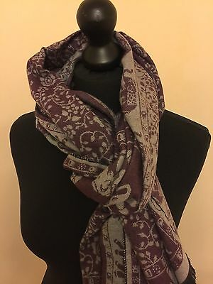 High Quality Pashmina 100/% Cashmere Wool Evening Shawl Scarf Wrap Up Stole India