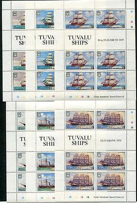 Tuvalu 1981 Ships (1st Series) set of sheets of 6 SG162/7 MNH