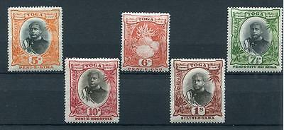 Tonga 1897 5d to 1s SG46/50 MM cat £127