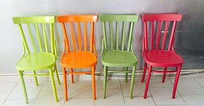 CHAIR wooden chair chairs 50s colored wooden vintage VINTAGE modernism