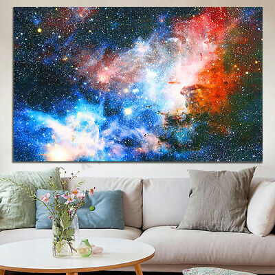 108*60cm New Universe Space Galaxy Planet Nebula Art Silk Cloth Poster Decor HOT
