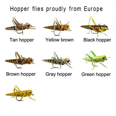 Riverruns Realistic Grasshopper Hopper Flies Supreme Foam Hopper From Europe