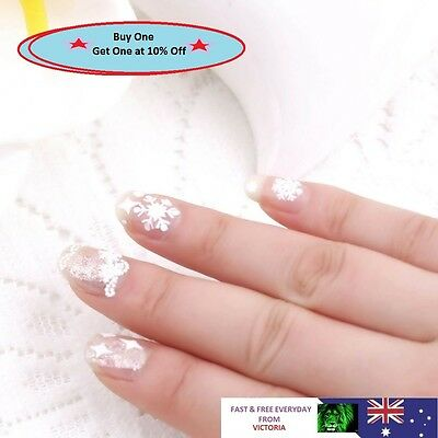 12 sheet Christmas Snowflakes Design Xmas 3D Nail Art Stickers Decals Decoration