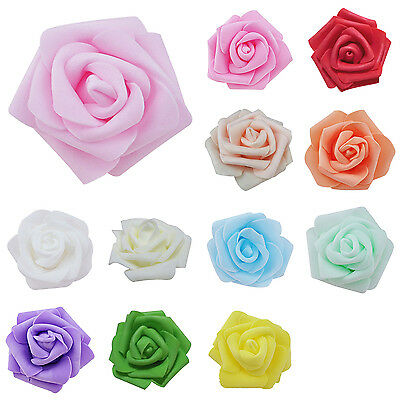 100pcs / bag 6cm Foam Rose Heads Artificial Flower Heads Wedding Decoration PK