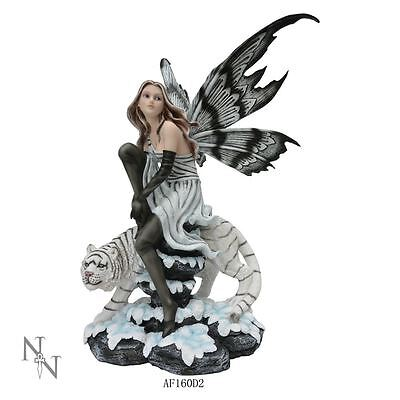 Nemesis Now - Black and White Fairy and Tiger Figurine