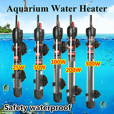 Aquarium Fish Tank Automatic Water Thermostat Heater Heating Rod Submersible