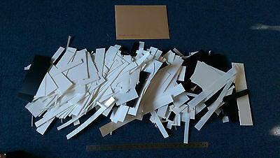 Plasticard HIPS 5kg 0.25mm to 3mm thick black and white various sizes off cuts