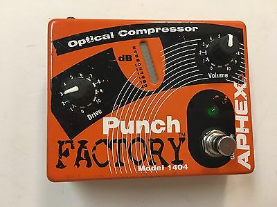 Aphex Model 1404 Optical Compressor Sustainer Punch Factory Guitar Effect Pedal