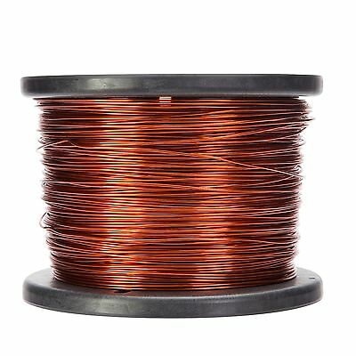 "14 AWG Gauge Enameled Copper Magnet Wire 5.0 lbs 395' Length 0.0671"" 200C Nat"