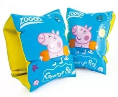 Zoggs Peppa Pig GEORGE Swim Armbands Swimming Aid  Learn to Swim 2 to 6 Yrs BLUE