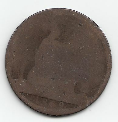 Very Rare 1869 Victoria Penny 1d - Visible Date
