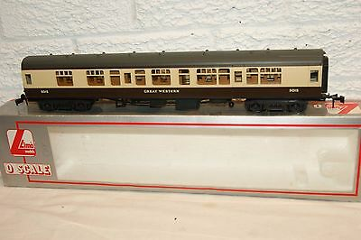 O gauge EXCELLENT Lima mk 1 Coach Great Western Brown Cream 5015 2nd Class BOXED