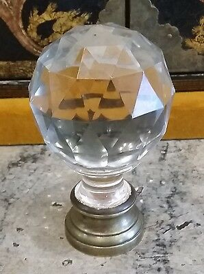 Massif Cristal Baccarat French Newel Post Finial or Boule d'escalier