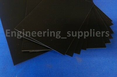 2mm Black Plasticard Sheet High Impact Polystyrene HIPS A5-A3 Matt/Matt finish