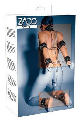 Set costrittore in pelle di alta qualita' e Catene - Bondage by ZADO Fetish