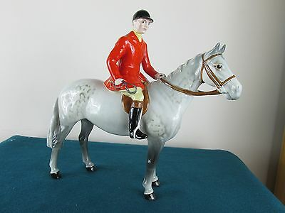 Very Rare Beswick Huntsman On Grey 1501 - Perfect!