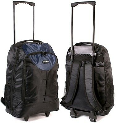 Wheeled Cabin Bag Lightweight Wheelie Backpack Holdall Trolley Travel Luggage