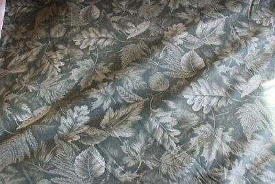 cranston fabric Fall Green leaves BTY