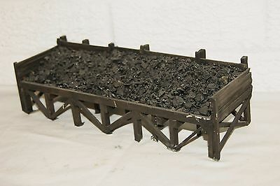 O gauge 7mm SCRATCHBUILT Coal Staithes with Real Coal