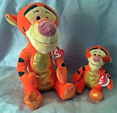 Tigger Sparkle Ty Beanie Baby & Buddy Set of 2- MWMT -FREE SHIPPING