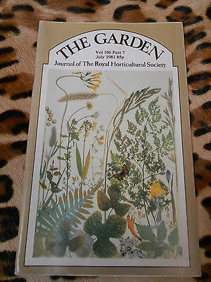 THE GARDEN, journal of the Royal Horticultural Society - Vol 106, part 7 - 1981
